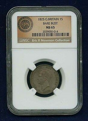 England George Iv  1825 1 Shilling Uncirculated Silver Coin Certified Ngc Ms-65
