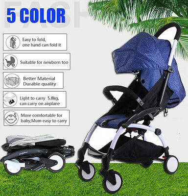 Baby Stroller Umbrella Pram Infant Foldable Pushchair Travel System Buggy