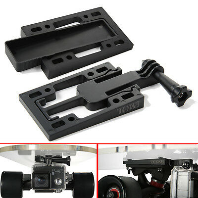 GoPro Camera Mount Riser Covert Secret Bracket Skateboard Longboard Parts Black