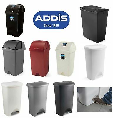 Addis Pedal Bin 50 Litre Strong Kitchen Waste Rubbish Paper Roll Top Bins Choice