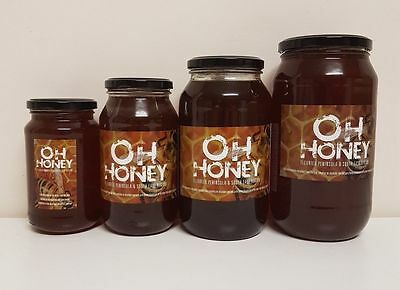 Oh Honey  Raw, Organic - Directly From Hive To Jar Multi Sizes
