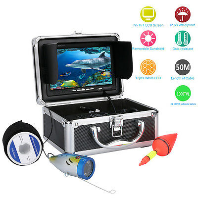 "50M HD 7"" LCD 1000TVL Fish Finder Underwater Video Camera Fishing Equipment"