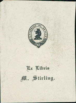 M. Stirling. Ex-Libris   Bookplate   JE.1811