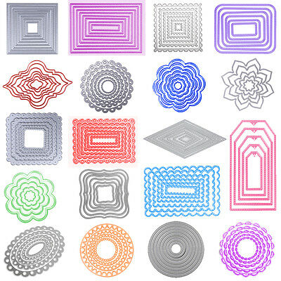 Frame Metal Cutting Dies Stencil for DIY Scrapbooking Album Paper Card Crafts