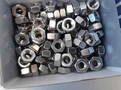 """Qty 100 Hex Nut 1/4"""" UNC Imperial Marine Grade Stainless Steel SS #316 Free Post"""