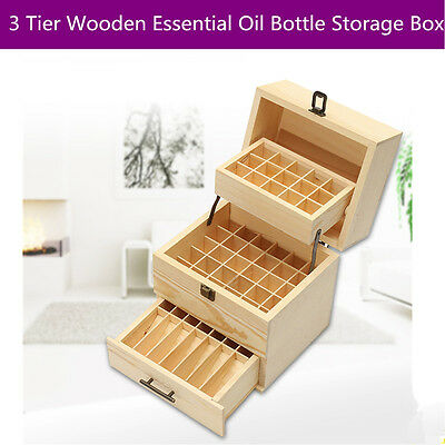 59 Slots Wooden Boxes Aromatherapy Essential Oil Container Jewelry Storage Case