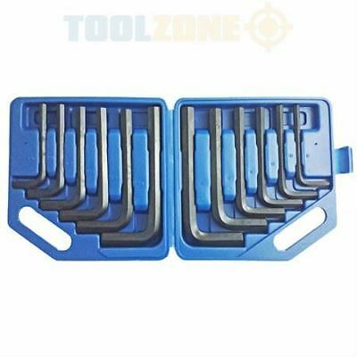 "Toolzone 12 Piece Jumbo MM/AF Hex Key Set  8-19mm 3/8""-3/4"" HX024"