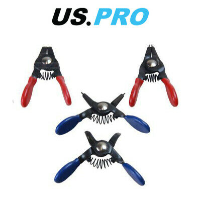 US PRO Tools 4pc Mini Circlip Pliers Plier Set 2990