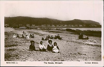 Children. The Sands. Millport.  Isle of Cumbrae Bute. Vintage Postcard RP JE1822