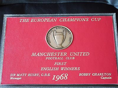 Manchester United - 1968 - European Champions Medal - C/w Case