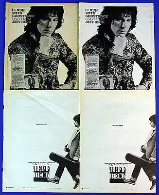 Jeff Beck 1970s Vintage & Collectible Promotional Ads Collection