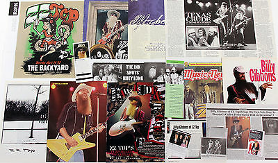 ZZ Top 1980s - 2015 Massive Press, Media Clippings Collection
