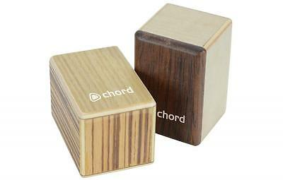 Chord 173.802 Set of 2 Miniature Mini Cajon Styled Shakers for Percussion Effect