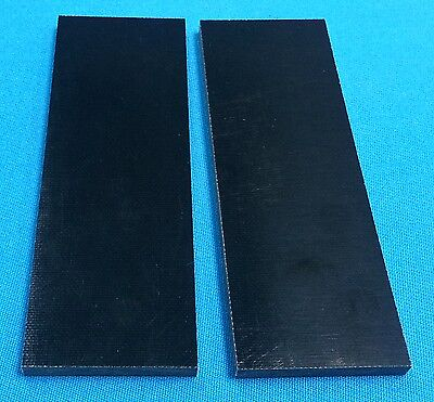 "2 Black Canvas Micarta 1/4"" Knife Handle Material 6"" x 2"" x .250 - Scales"