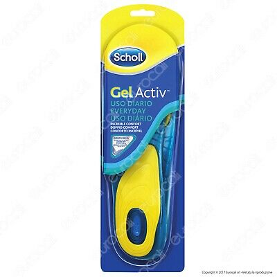 Scholl Gel Activ Everyday 2 Solette Scarpe Uso Quotidiano per Piedi Uomo Donna