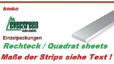 Evergreen No.121 plastic strips sheets 0,50 x 0,75 mm - 35 cm lang - 10Stck.