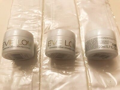 X3 EVE LOM CLEANSER 20 ml =60ml face wash travel size, and half cloth