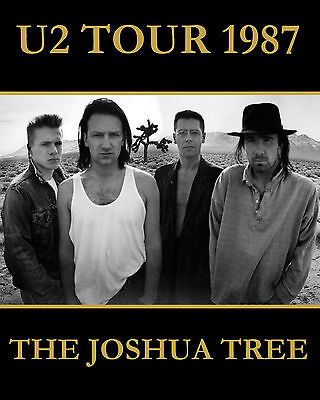 U2 - 1987 Joshua Tree Poster - 8x10 Color Photo