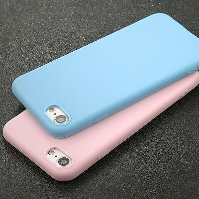 Candy Ultra thin TPU Rubber Matte Case Back Cover For iPhone 5 6 7 8 X XR XS Max