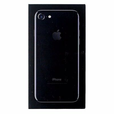 Apple iPhone 7 Box Only w/ Tray and Manual - NO PHONE - Jet Black - 256GB