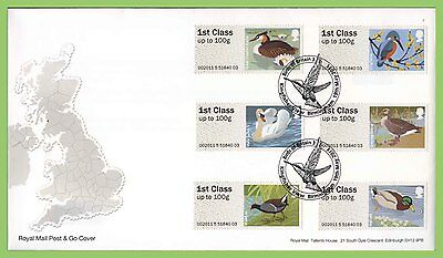 G.B. 2011 Post & Go Birds set on u/a Royal Mail First Day Cover, Birmingham