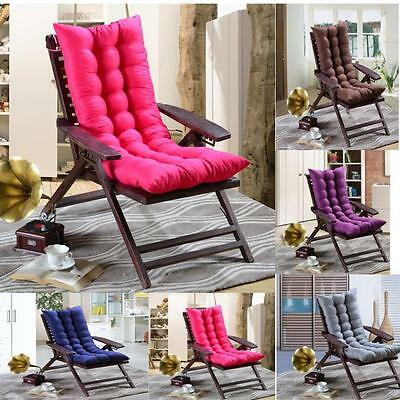 Pastoral Flowers Soft Home Yard Cotton Seat Cushion Buttocks Long Chair Pads
