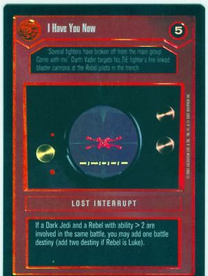Star Wars CCG Reflections 3 III Foil I Have You Now