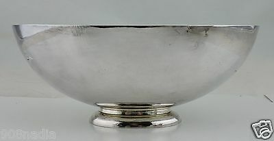 Vintage Silver Plate Oval Footed Candy/fruit Bowl Vase Holloware