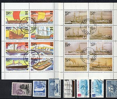 BOATS SHIPS Thematic STAMP COLLECTION majority Used Ref:TS266