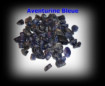 Lot 60 Pierres Roulées naturelles +++ AVENTURINE BLEUE +++ Quartz Bleu !