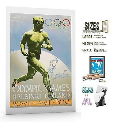 SPORT POSTER Official Poster For Cancelled Helsinki Olympic Games