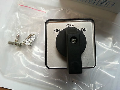 Rotary Cam Changeover Switch 1pole 3pos on-of-on CA10 Phase Selector Control