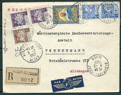 Algeria 1967 Reg. Cover Posted To Germany, Nice Stamps & Postmark -Cag 030516