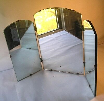 An Old Department Store 3 Part Art Deco Mirror M93