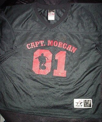 CAPTAIN MORGAN Spiced Rum Liquor Football L/XL Youth NEW Rare Promo Jersey Shirt