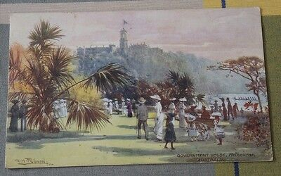 Artist Signed A H Fullwood Government House Melbourne Tucks Oilette P/m 1905 #39