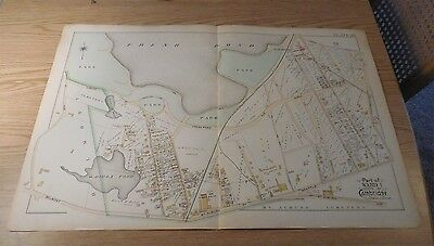 1894 'G.W. Bromley'  Map of North Cambridge - Fresh Pond with Land Ownership