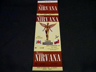 Nirvana - Original Concert Ticket - Paris , Le Zenith , 15-02-1994 - Mint !