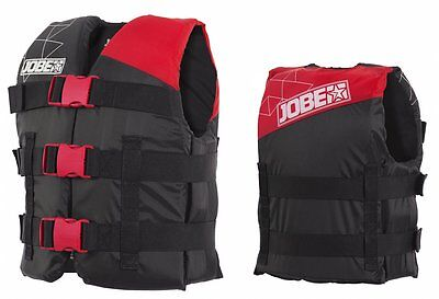 Jobe Progress Nylon Vest Youth Kids Life Jacket Float red