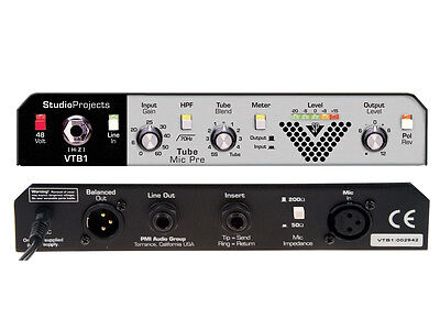 Studio Projects VTB1 Tube Microphone Preamp & Instrument DI