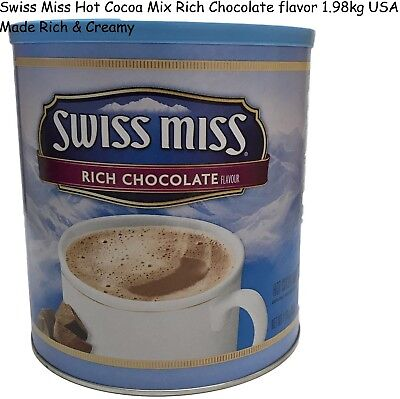 Swiss Miss Hot Cocoa Mix Rich Chocolate flavor 1.98kg USA Made Rich & Creamy