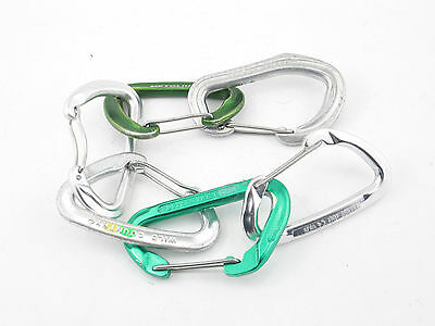 6 Wiregate Climbing Carabiners, rock lead sport anchor carabiner NICE