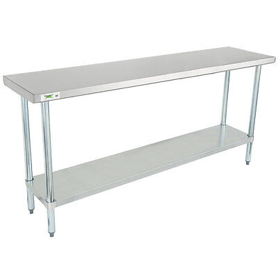 "Regency 18"" x 72"" Stainless Steel Commercial Work Table with Undershelf"