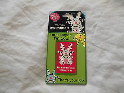 Happy Bunny Frames & Magets by Jim Benton Carlton Cards, New!
