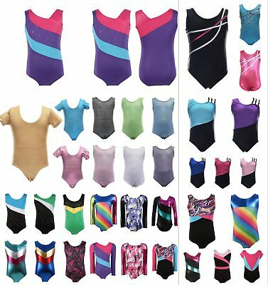 Baby Kids Girls Multi Style GYM Gymnastic Leotard Tutu Ballet Skating Costumes