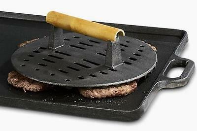 """Grill / Meat Press - 9"""" Round / Cast Iron"""