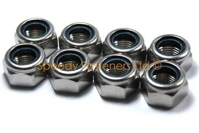 8x Go Kart Karting Stainless Steel Nyloc Nuts for Front Wheels Rotax TKM Cadet