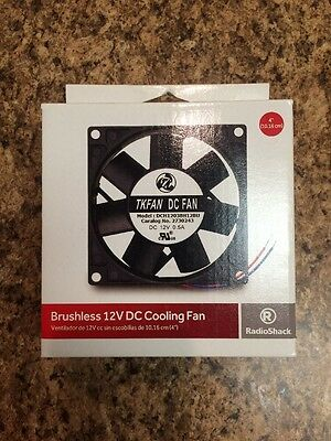 "NEW RadioShack 4"" Brushless 12V DC Cooling Fan 3000 RPM 2730243 TKFAN New in Box"