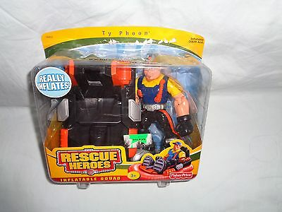 Rescue Heroes Ty Phoon  Figure Inflatable Squad 2004 New