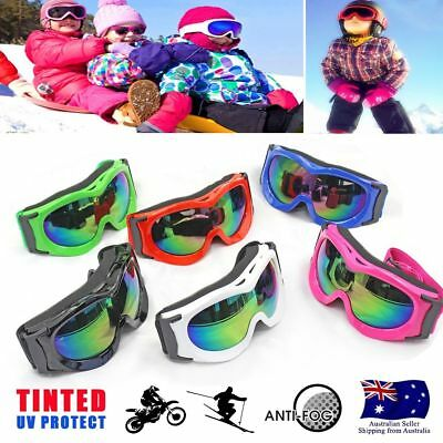 Kid boy girl Ski Goggles UV400 Anti-fog Skiing Unisex Snow Snowboard GOOGLES